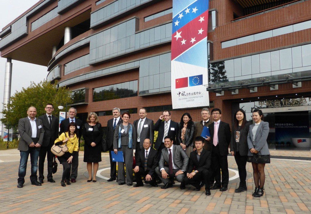 The delegates took part in a conference in Euro-Asian Cooperation Center in Guangzhou