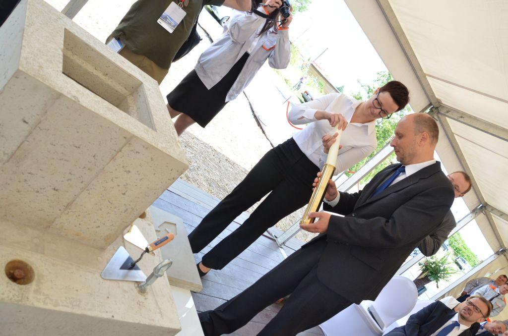 W środę, 29 lipca wmurowano kamień węgielny pod nową inwestycję