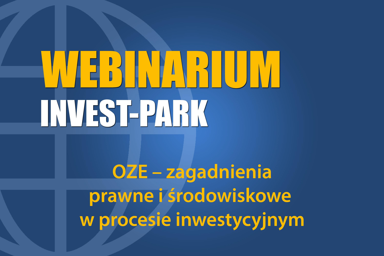 OZE – zagadnienia prawne i środowiskowe w procesie inwestycyjnym